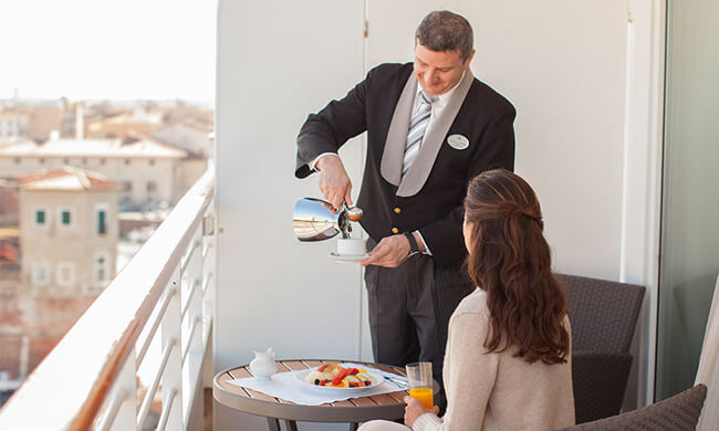 ocean view dining - in room dining - crystal cruises